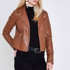 light brown leather jacket womens tan faux leather biker jacket coats jackets sale women