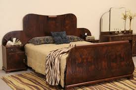 sold italian art deco 1930 u0027s queen size bed with attached