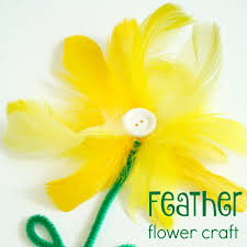 feather flower feather flower craft fantastic learning