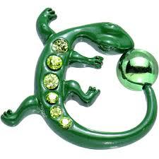 Curvacious Acrylic Green Gem Izzy Lizzy Curvacious Ball Closure Ring U2013 Bodycandy