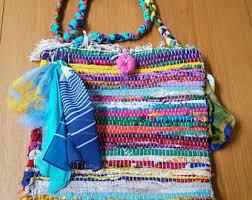College Dorm Rugs Rag Rug Purse Bohemian Beach Bag College Shoulder Bag Rag