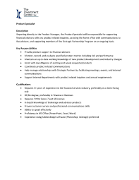 Finance Advisor Job Description The Investment Center Inc Linkedin