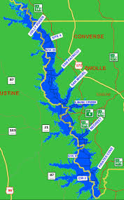 Louisiana On A Map by Boat Lanes Maps For Toledo Bend Lake