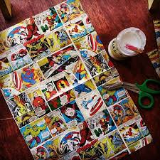 marvel wrapping paper marvel decoupage chair kippers and curtains an