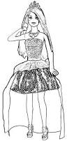 barbie in rock n royals singing courtney doll coloring page