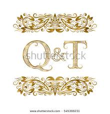 q letter ornamental stock images royalty free images vectors