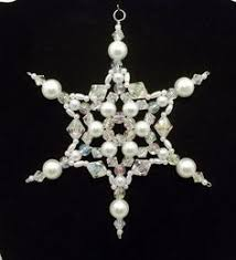 beaded snowflake ornament ornament green