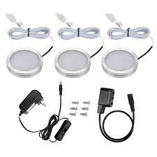 led under cabinet lighting kits le led under cabinet lighting kit 510lm puck lights 3000k warm