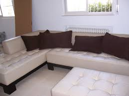 White Fabric Sectional Sofa by Furniture L Shaped Varnished Walnut Sectional Sofa With Stripped