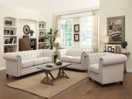 Roy Traditional ButtonTufted Piece Living Room Set  Payless - Three piece living room set