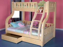 Childrens Luxury Carved Solid Pine Wood Double Triple Bunk Bed - Double bunk beds uk