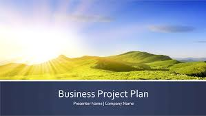 business project plan presentation widescreen office templates