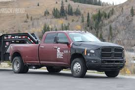 Dodge 3500 Truck Cap - spied 2018 ram 2500 3500 heavy duty with updated cummins
