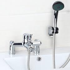 tub shower faucet larcolais antique brass bathroom bathhouse tub