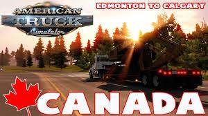 american truck simulator canada edmonton to calgary ats map