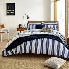 willis navy striped bedding by peacock blue at bedeck 1951
