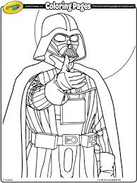 star wars darth vader coloring crayola