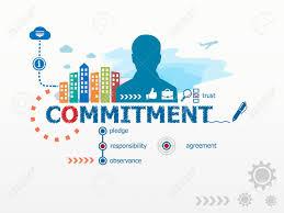 design management careers commitment concept and business man flat design illustration