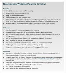 wedding planner timeline template