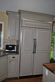 Kitchen Island With Microwave White Kitchen Appliance With Black Handler Also With Granite