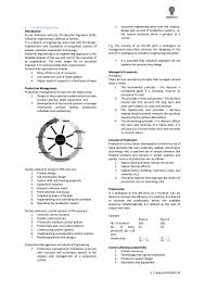 gate mechanical engineering notes on industrial engineering