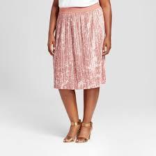 pleated skirt women s plus size velvet pleated skirt target