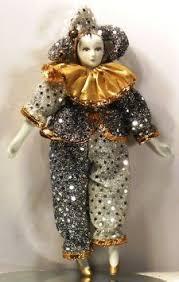 porcelain jester doll 21 ornament clown harlequin
