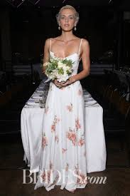 wedding dresses with purple detail 61 colored wedding dresses from bridal fashion week brides