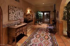 Kilim Runner Rugs Entryway With Crown Molding U0026 Terracotta Tile Floors In Tucson Az
