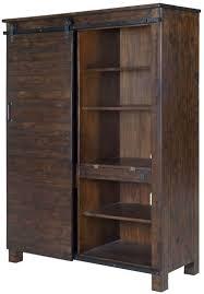 Pine Bookcase With Doors Pine Hill Rustic Pine Door Bookcase From Magnussen Home Coleman