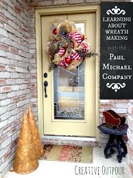 christmas wreath making diy from the paul michael company paul