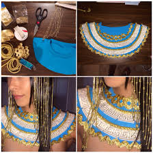 Diy Cleopatra Costume My Diy Beaded Headpiece And Embellished