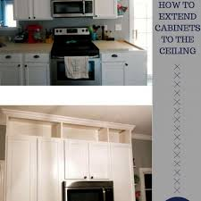 how to make cabinets appear taller how to extend kitchen cabinets to the ceiling