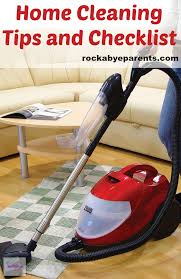 home cleaning tips and checklist to save time and energy