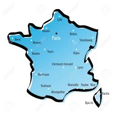 France Map With Cities by Stylized Map Of France With Major Cities Royalty Free Cliparts