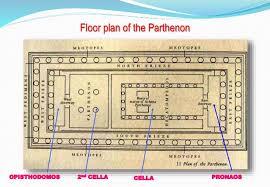 floor plan of the parthenon parthenon greek architecture