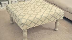 handsome fabric ottoman coffee table design ideas youtube