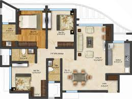 3 Bhk Apartment Floor Plan by 1482 Sq Ft 3 Bhk 3t Apartment For Sale In Acme Ozone Thane West Mumbai