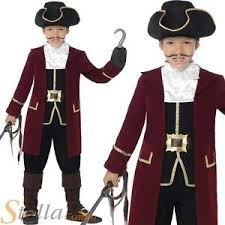 Captain Hook Halloween Costume Boys Deluxe Pirate Captain Hook Costume Child Fancy Dress