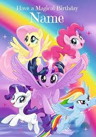 Mlp Birthday Card My Little Pony Cards Kids Birthday Cards Funky Pigeon