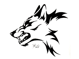 terrific angry tribal wolf design t shirt