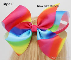grosgrain ribbons new arrival jojo siwa 8 inch handmade rainbow grosgrain ribbons hair