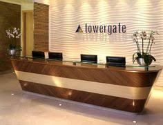 Accessible Reception Desk Cashwrap Reception Desk Floating White Raw Concrete Reclaimed