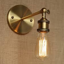 Industrial Style Antique Gold Metal Wall L For Workroom Bathroom Gold Bathroom Light Fixtures