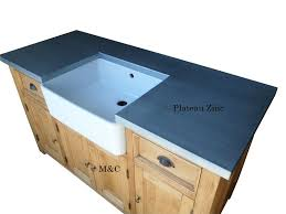 meuble sous evier cuisine grand meuble evier de cuisine dessus zinc