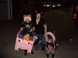 Minecraft Halloween Costume Sale Steve Riding Pig Minecraft Cardboard Halloween Costume