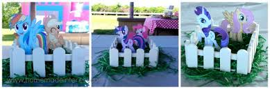 my pony centerpieces my pony party home made interest