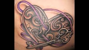 lock and key tattoos for couples youtube