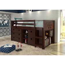 donco kids circles modular low loft twin bed free shipping today