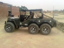 first willys jeep modified willys jeep turned into a 6x6 in india